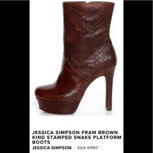New Jessica Simpson sz 9 Fram brown platform boots
